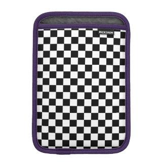 Black and White Checkerboard iPad Mini Sleeve