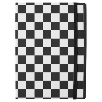 "Black and White Checkerboard iPad Pro 12.9"" Case"