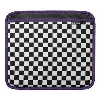Black and White Checkerboard iPad Sleeve