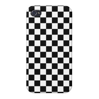 Black and White Checkerboard iPhone 4/4S Cover