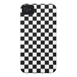 Black and White Checkerboard iPhone 4 Case