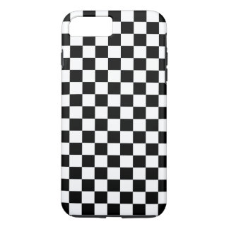 Black and White Checkerboard iPhone 7 Plus Case