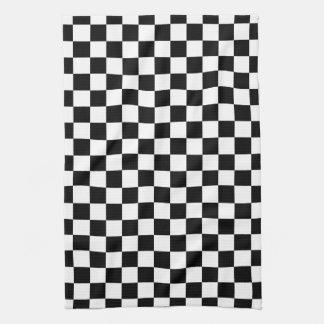 Black and White Checkerboard Kitchen Towel