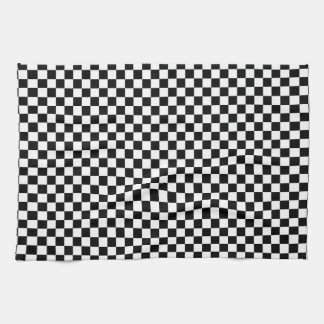 Black and White Checkerboard Kitchen Towels