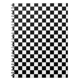 Black and White Checkerboard Notebook