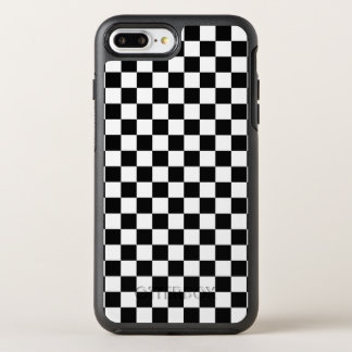 Black and White Checkerboard OtterBox Symmetry iPhone 8 Plus/7 Plus Case