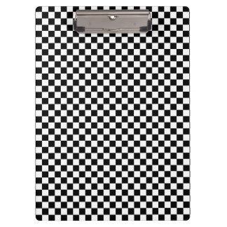 Black and White Checkerboard Pattern Clipboard