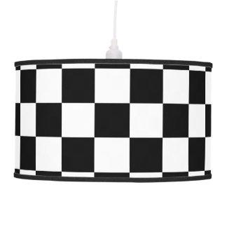 Black and White Checkerboard Pendant Lamp