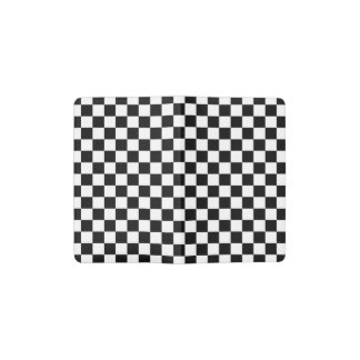 Black and White Checkerboard Pocket Moleskine Notebook