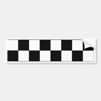 Black and White Checkerboard Retro Hipster Bumper Sticker