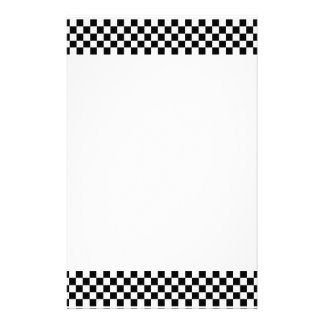 Black and White Checkerboard Stationery