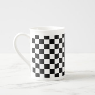 Black and White Checkerboard Tea Cup