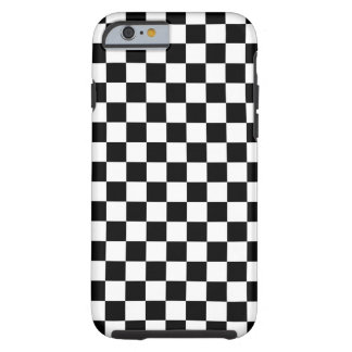 Black and White Checkerboard Tough iPhone 6 Case