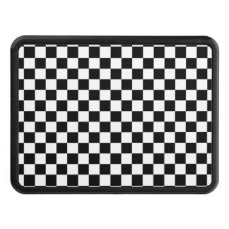 Black and White Checkerboard Trailer Hitch Cover