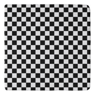 Black and White Checkerboard Trivet