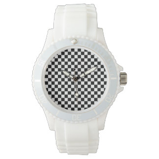 Black and White Checkerboard Watch