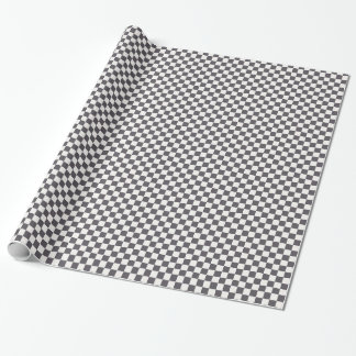 Black and White Checkerboard Wrapping Paper
