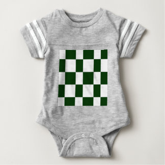 Black And White checkerboards Baby Bodysuit