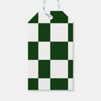 Black And White checkerboards Gift Tags