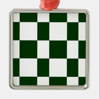 Black And White checkerboards Metal Ornament