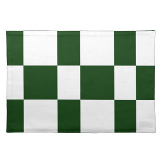 Black And White checkerboards Placemat