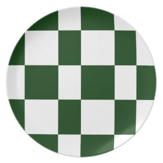 Black And White checkerboards Plate