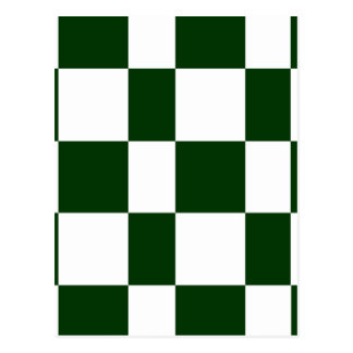 Black And White checkerboards Postcard