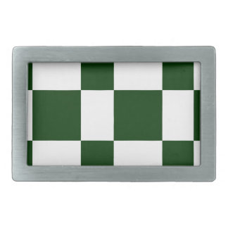 Black And White checkerboards Rectangular Belt Buckle