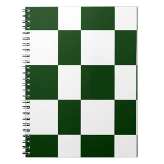 Black And White checkerboards Spiral Notebook