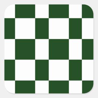 Black And White checkerboards Square Sticker