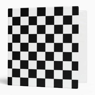 Black and White Checkered Avery Binder