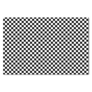 Black And White Checkered Board Pattern Tissue Paper