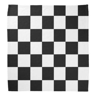 Black And White Checkered Checkerboard Pattern Bandana