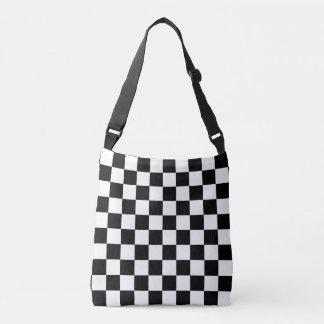 Black and White Checkered Crossbody Bag