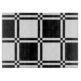 Black and White Checkered Cutting Board