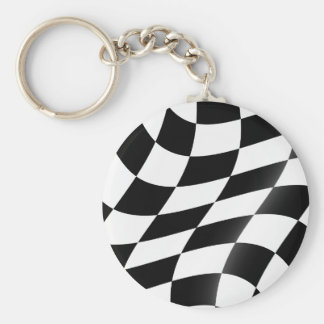 Black And White Checkered Flag Keychain