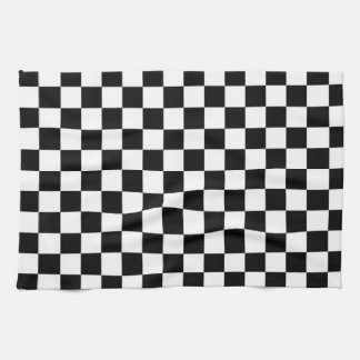 Black and White Checkered Kitchen Towel