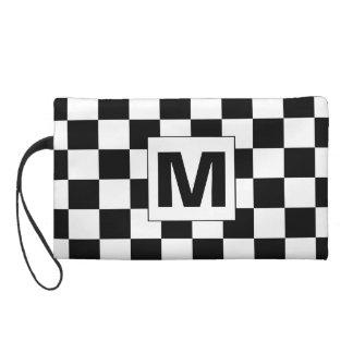 Black and White Checkered Monogram Bagettes Bag