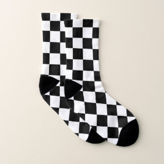 Black and White Checkered Pattern 1