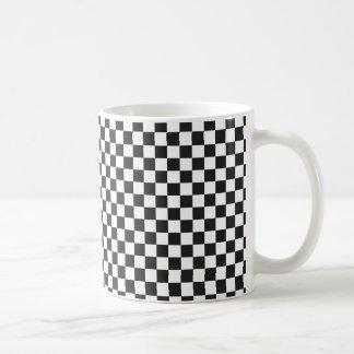 Black And White Checkered Pattern Coffee Mug