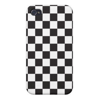 Black and White Checkered Pattern Cover Case For The iPhone 4