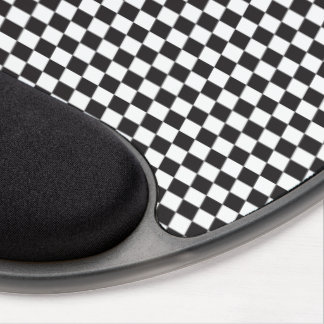 Black And White Checkered Pattern Gel Mouse Pad