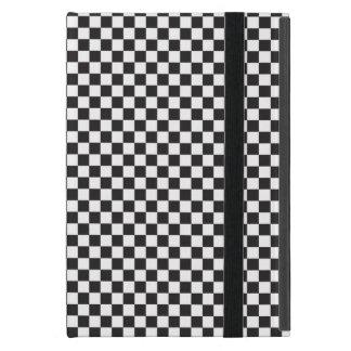 Black And White Checkered Pattern iPad Mini Cover
