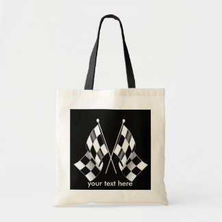 Black and White Checkered Racing Flags