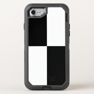 Black and White Checkered Rectangles OtterBox Defender iPhone 8/7 Case