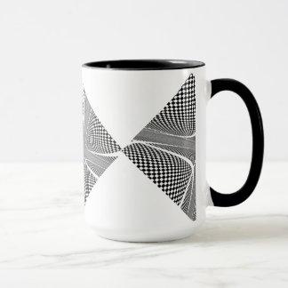Black and White Checkered Swirl Mug