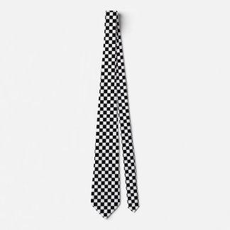 Black And White Checkered Tie