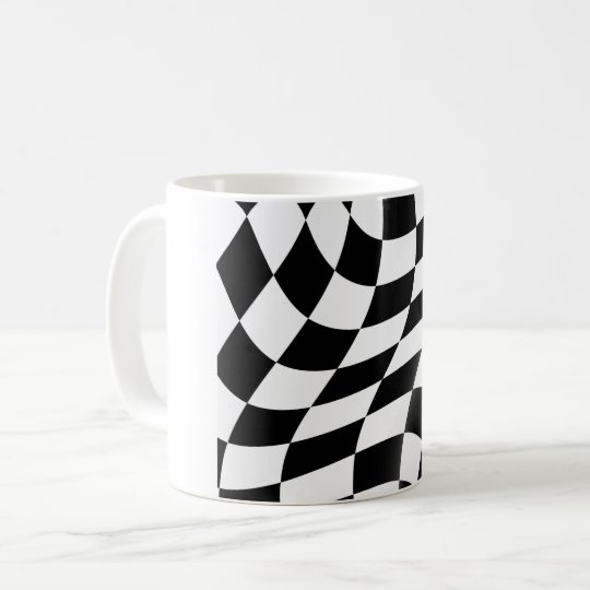 Black And White Chequered Flag Mug