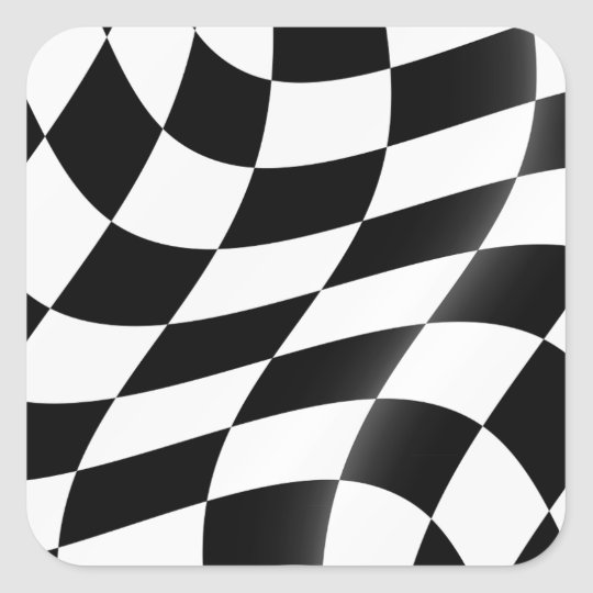 Black And White Chequered Flag Stickers