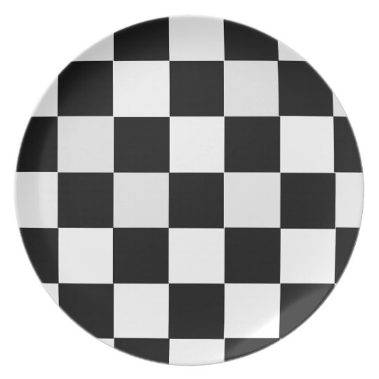 Black and White Chequered Plate